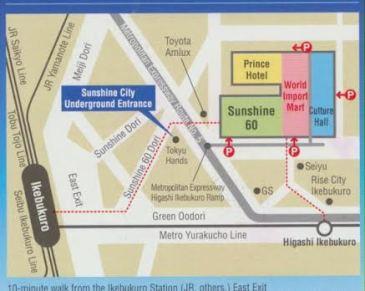 Sunshine Tokyo Map